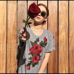 LF Emma and Sam rose T-shirt